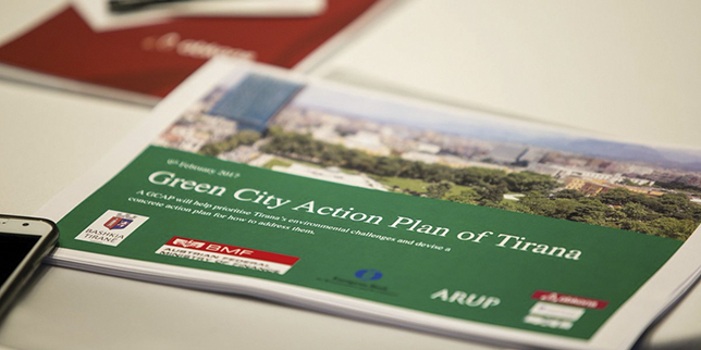 An action plan for sustainable future of Tirana was settled
