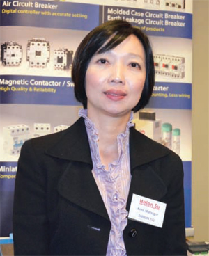 Helen Su, Shihlin: Our main target is to become one of the major Low-voltage switch suppliers in the local area