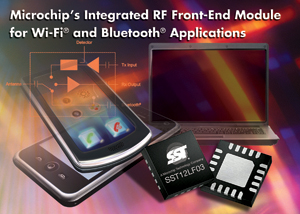 Microchip Introduces Compact, Integrated RF Front-End Module forWi-Fi Applications