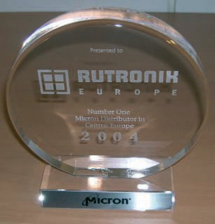 """Micron honours Rutronik as """"European Distributor of the year 2007"""" - Franchise extended to the whole of Europe"""