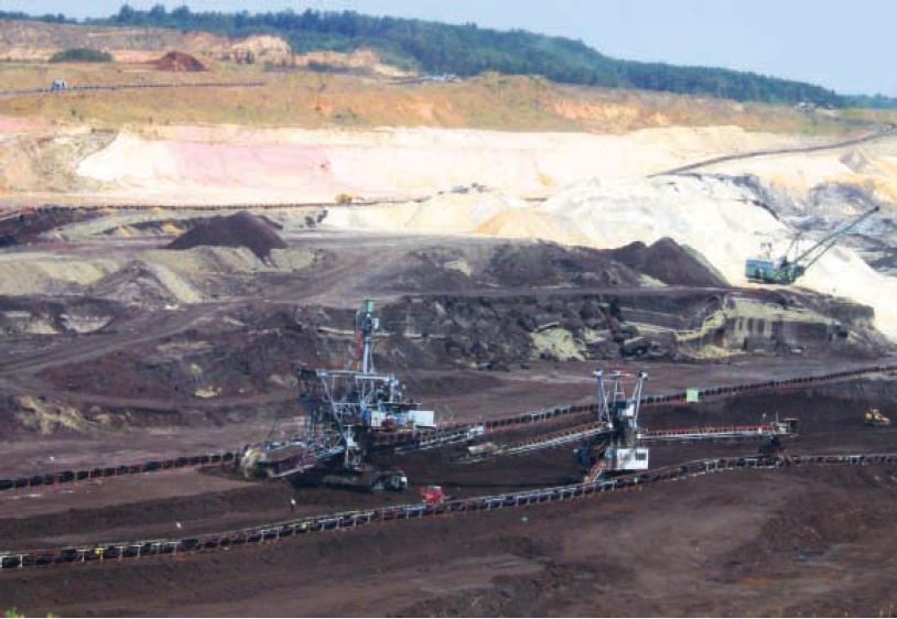 Kolubara B lignite fired power plant in central Serbia