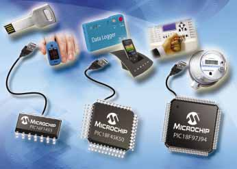 Microchip expands USB portfolio with fifteen new 8-bit PIC® MCUs
